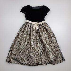 Cinderella Velvet Sequin Holiday Party Dress